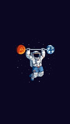 Space Gym Art Print by Tobe Fonseca - X-Small Astronaut Wallpaper, Art Tumblr, Space Illustration, Astronauts In Space, Aliens, Iphone Wallpaper, Pop Art, Art Drawings, Artsy
