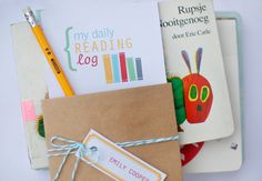 Nice reading log inspiration for teachers, etc.  There are printables.