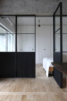 Creative Ideas for Decorative Room Dividers - Room Divider Ideas - Architecture Restaurant, Interior Architecture, Interior Design, Scandinavian Doors, Crittal Doors, Crittall Windows, Glass Partition Wall, Door Dividers, Steel Doors And Windows