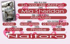 #leomaromos17 Locas del romance: La voz de Archer, Mía Sheridan