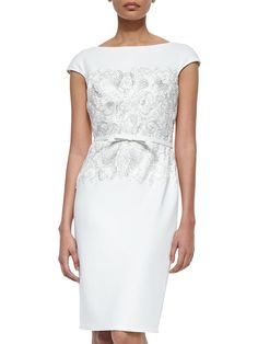 White Round Neck Sleeveless Embroidered Drawstring Dress -SheIn(abaday)  Neiman Marcus f4b75ea91