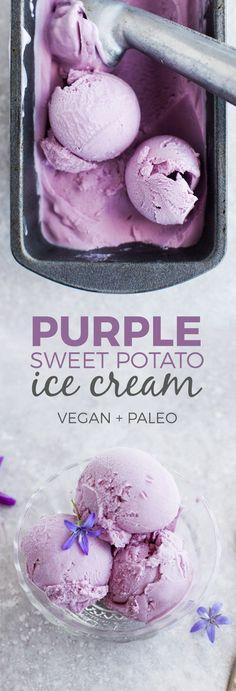 Coconut & Purple Sweet Potato Ice Cream (Vegan)