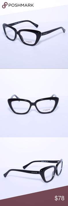 COACH 6090 5002 Eyeglasses Optical Frames Glasses Brand New 100% Authentic COACH 6090 5002 Eyeglasses Optical Frames Glasses Glossy Black ~ 52mm Comes with Generic Case, NO Pouch Coach Accessories Glasses