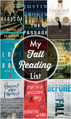My Fall Reading List for 2016. A list of books to read during the fall season!