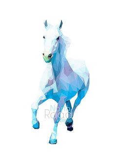 PRODUCT INFORMATION: Low poly horse - 8x12 print.    This is a digital download, and you will receive a download link instantly after