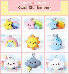 Kawaii Sky Necklaces by Oborochann.deviantart.com