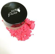 Posey a pot rouge cream blush. Cream Blush, Makeup Swatches, 100 Pure, The 100, Pure Products, Vegan, Pink, Red, Makeup Samples