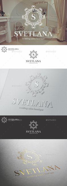 Wedding Salon Boutique Elegant Logo Template #design #logo Download: http://graphicriver.net/item/wedding-salon-boutique-elegant-logo/11509458?ref=ksioks