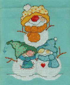 PILE OF PALS (FLAKEY FRIENDS) - Counted Cross Stitch Pattern