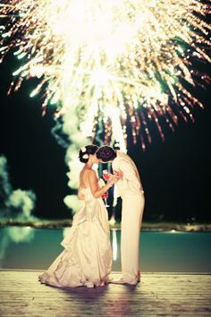 firework wedding shot