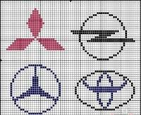 Cars logo x-stitch