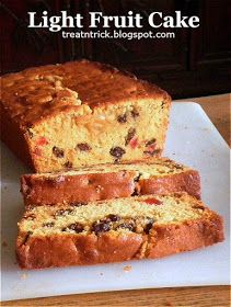 Buttery, soft and light fruit cake made with delicious dried fruits Easy Cake Recipes, Baking Recipes, Sponge Cake Recipes, Delicious Recipes, Bread Recipes, Light Fruit Cake Recipe, Trini Fruit Cake Recipe, Guyana Fruit Cake Recipe, Christmas Fruit Cake Recipe