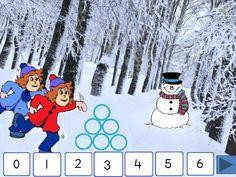 Digibordles winter: splitting 6 - - Miss Anja - Miss Anja Di . Winter Activities For Kids, Christmas Crafts For Kids, Winter Wonderland Centerpieces, Snowman Crafts, Winter Solstice, Garden Crafts, Winter Theme, Seasons, School