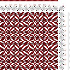 Hand Weaving Draft: Page 254, Figure 1, Orimono soshiki hen [Textile System], Yoshida, Kiju, 4S, 4T - Handweaving.net Hand Weaving and Draft Archive
