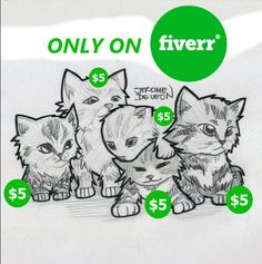 Jeromedl will draw your pet into a cartoon starting at $5 on fiverr.com