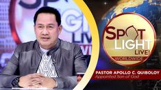 SPOTLIGHT by Pastor Apollo C. Quiboloy • June 11, 2019 Spiritual Enlightenment, Spirituality, Kingdom Of Heaven, T Lights, Great Leaders, Son Of God, Praise And Worship, Apollo, Spotlight