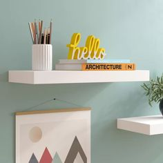 Floating shelves is a type of shelf which appears to be attached to a wall without the help of brack Decor, Zipcode Design, Floating, Ikea Shelves, Floating Shelves, Wall Display, Shelves, Home Decor, Floating Wall Shelves
