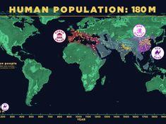 Le Muséum d'Histoire naturelle américain diffuse une vidéo expliquant l'évolution de la population mondiale à travers le temps.