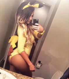 Sexy pikachu costume for Halloween!