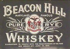 Beacon Hill Rye Whiskey Label