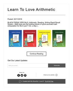 Learn To Love Arithmetic