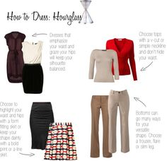 """How to Dress: Hourglass"" by elisashely on Polyvore"