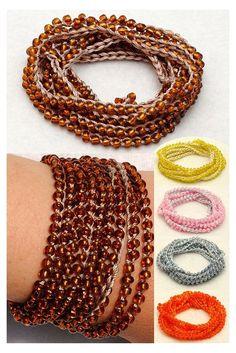Bracelet Wrap, Beaded Wrap Bracelets, Crochet Bracelet, Layered Bracelets, Bead Crochet, Jewelry Bracelets, Beaded Necklace, Diamond Bracelets, Summer Jewelry
