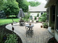 Small Paver Patio | Paver patio with rounded edges rounded step Columbus OH