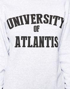 Enlarge ASOS Reclaimed University of Atlantis Sweat