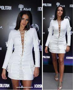 Vestido branco de Bruna Marquezine da Balmain em festa custa R$ 12 mil