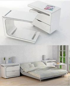 end table + bed desk on wheels