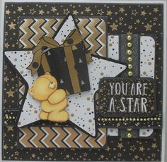 Picture of Free Forever Friends Classic Decadence Card Making Project Crafts To Do, Hobbies And Crafts, Forever Friends Cards, Kids Cards, Cards Diy, Birthday Cards For Men, Butterfly Cards, Animal Cards, Masculine Cards