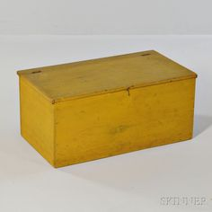$5,843 Shaker Small Yellow-stained Pine Storage Chest