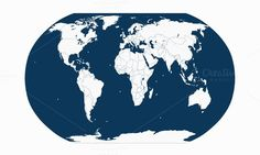 World map with borders and planet. $7.00
