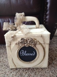 Luggage, chalk paint and a frame