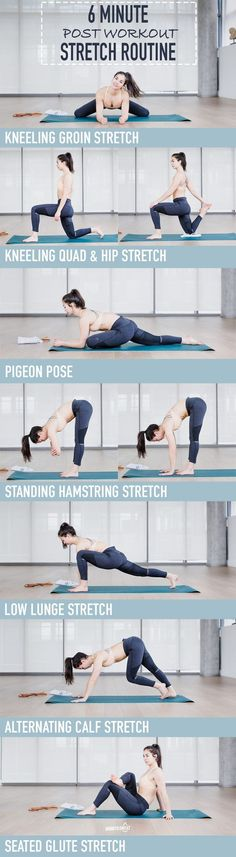 My go-to every day 6 minute stretch routine! I perform these stretches after every workout to ensure my muscles aren't tight or too stiff the next day.