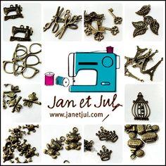 + embellecedores para Bolsos DIY también piezas de bisuteria par bolsas :-) + info: http://www.janetjul.com/es/accesorios/bisuteria-y-embellecedores