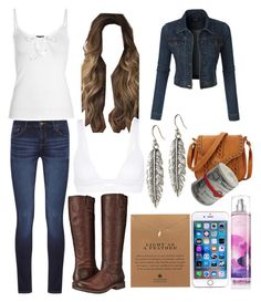 """""""MyStyle"""" by maisie-phillips on Polyvore featuring LE3NO, DL1961 Premium Denim, Frye, Dogeared, Vitamin A and Lucky Brand"""