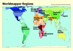 WORLD REGIONS: 12 regions of the world map - Google Search