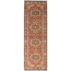ecarpetgallery  Hand-Knotted Serapi Heritage Orange  Wool Rug (2'7 x 7'9)