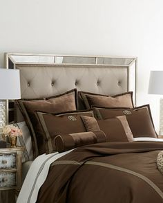 Arcady Bedding by Isabella Collection by Kathy Fielder at Horchow. Bed Drapes, Innovation Design, Linen Bedding, Sweet Home, Bedroom Decor, Head Boards, Blanket, Luxury, Linens