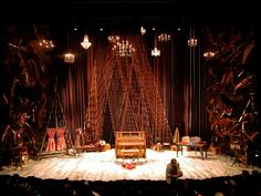 Giant piano parts for Stephen Sondheim's Into the Woods, McCarter Theatre.stage designs theatre - Google Search