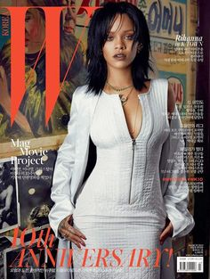 rihanna for w korea's 10 anniversary issue