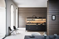 UNIT - Structured Titanio lacquer, Basalto steel, stainless steel #CesarKitchen #design #interiors #kitchen