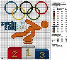 Olympische spelen 2014 Sotsji free pattern cross stitch