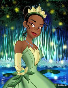 Princess Tiana Tiana And Naveen, Disney Princess Tiana, Princess Zelda, Princess Art, Black Girl Art, Black Girl Magic, Art Girl, Pocket Princesses, Disney Princesses