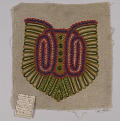 alwaysalwaysalwaysthesea:  Couture embroidery sample, ca. 1930-1939. (source: Cooper Hewitt)
