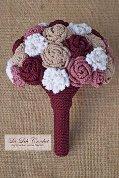 Crochet Flower Wedding Bridal Bouquet wedding keepsake