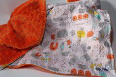LOVE LOVE LOVE!  SALE Baby Blanket Organic Baby Blanket Monsters by augieandlola, $35.00