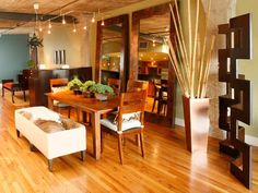 Dining Room With Warm Brown Tones